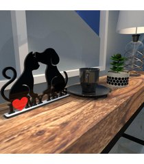 escultura de mesa adorno preto i love my pets único