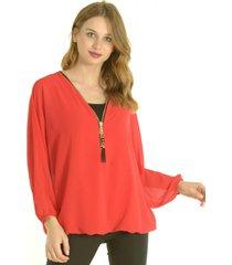 blusa orietta rojo bous