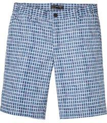bermuda a quadri con cinta comoda regular fit (blu) - bpc selection