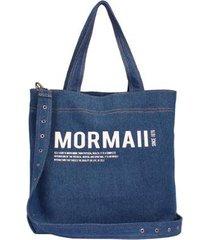 bolsa mormaii shopping bag jeans feminina