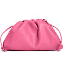 bottega veneta the mini pouch leather clutch - pink