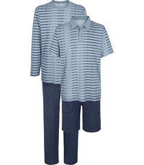 pyjamas i 2-pack babista blå::marinblå