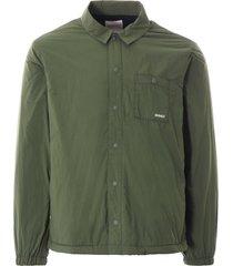 gramicci nylon-fleece coach shirt | olive | gm-421481