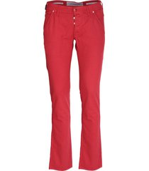 jacob cohen red cotton trousers