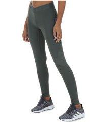 calça legging adidas alphaskin sport lt 3s - feminina - cinza escuro