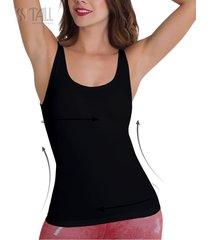 camiseta control light plus negro tall