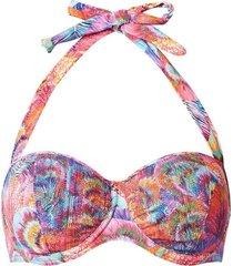 oranje roze gekleurde dames bikini top cupc cyell - 710126