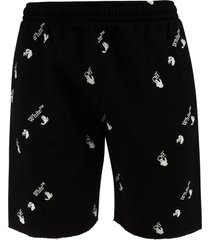off-white ow all-over sweat shorts