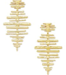 kendra scott 14k gold-plated matchstick statement earrings