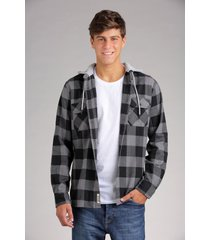 camisa gris rever pass flanel