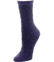 natori gobi textile socks, women's, purple natori