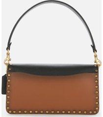 coach women's border rivets tabby shoulder bag 26 - black multi
