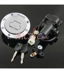 ignition switch gas cap seat lock key set for yamaha mt03 06-12 yzf r6 r1 98-05