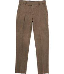 gibson herringbone trousers - coffee g18212rdt