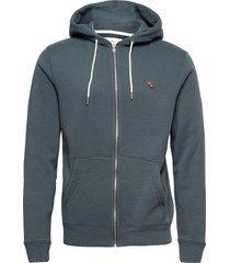 anf mens sweatshirts hoodie grå abercrombie & fitch