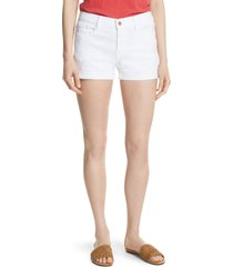women's frame le cutoff denim shorts, size 33 - white