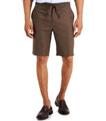"tasso elba men's solid drawstring 10"" shorts, created for macy's"