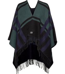 etoile parisian blanket poncho regnkläder svart superdry