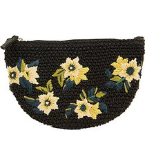 darcy floral embroidered straw bag