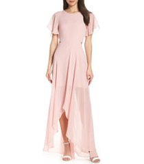 women's ali & jay cutout maxi dress, size medium - pink
