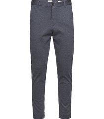 superflex knitted cropped pant kostymbyxor formella byxor blå lindbergh