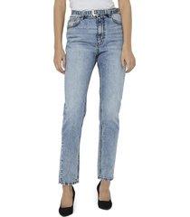 women's vero moda joana high waist belted jeans
