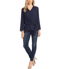 vince camuto belted blouse