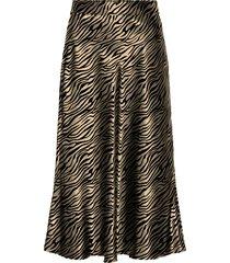 women's vero moda christas satin midi skirt, size x-large - brown