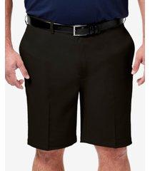 "haggar men's big & tall cool 18 pro classic-fit stretch flat-front 9.5"" shorts"