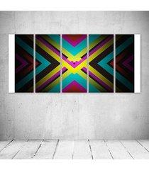 quadro decorativo - x marks the spot abstract s - composto de 5 quadros