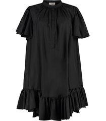 alexander mcqueen cotton mini-dress