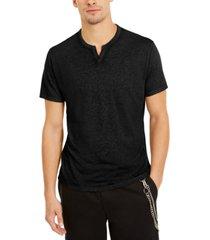 inc men's split-neck t-shirt, created for macy's