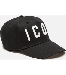 dsquared2 men's icon cap - black/white