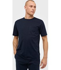 selected homme slhloui ss o-neck tee b t-shirts & linnen mörk blå