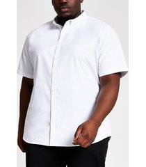 river island mens big & tall white slim fit oxford shirt