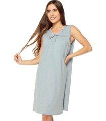 vestido pijama azul-gris bronzini éxito