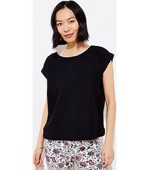 loft petite ottoman button back top