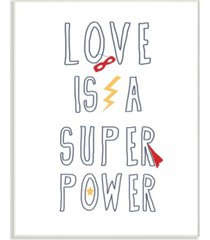 "stupell industries love is a superpower cape and mask wall plaque art, 10"" x 15"""