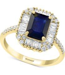 effy sapphire (1 1/2 ct. t.w.) & diamond (1/2 ct. t.w.) ring in 14k gold