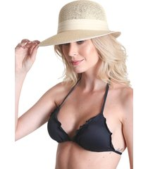 chapéu clássico com laço - nude - praaiah