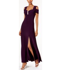 r & m richards cold-shoulder gown