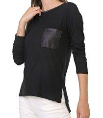 blusa lunender bolso preta