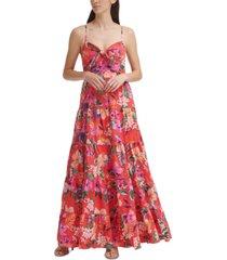eliza j floral-print maxi dress