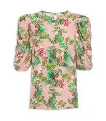 camiseta estampada - rosa