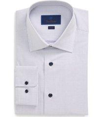 men's big & tall david donahue trim fit dress shirt, size 16 - 36/37 - purple