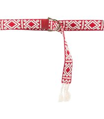 twinset tassel-trim belt - red