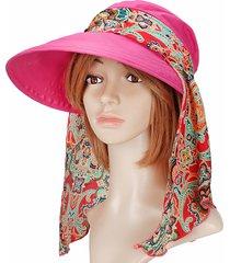 cappello estivo con tesa visiera larga prottegere da radiazione solare anti-uv