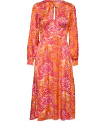 head turner long dress jurk knielengte oranje odd molly