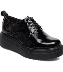 tara snörade skor låga svart vagabond