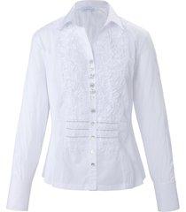 blouse met lange mouwen en sierknopen van just white multicolour